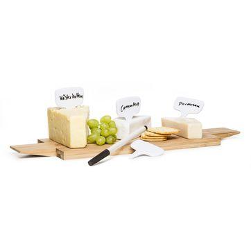 Sagaform - Kitchen - 4 tabliczki do oznaczania żywności z markerem - wymiary: 7,8 x 6 cm