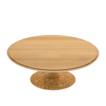 Alessi - Dressed in wood - patera na ciasto - średnica: 31,5 cm