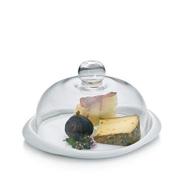 Kela - Petit - talerz do serów z pokrywą - średnica: 27 cm