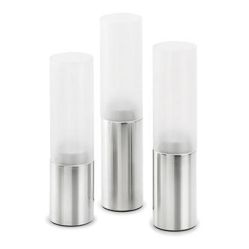 Blomus - Faro - 3 świeczniki na tealight - wysokość: 19, 21 i 23 cm