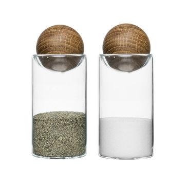 Sagaform - Nature - solniczka i pieprzniczka - wysokość: 11,5 cm