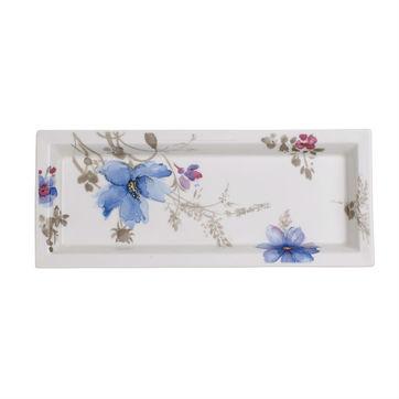 Villeroy & Boch - Mariefleur Gris Gifts - prostokątny półmisek - wymiary: 23,5 x 9,5 cm