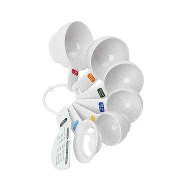 Dexam - zestaw 5 miarek z separatorem do jajek - pojemność: 60-240 ml