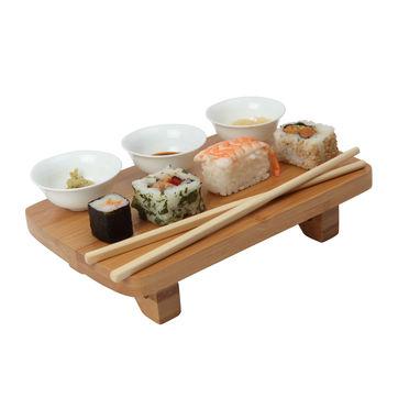 Dexam - zestaw do sushi - 3 miseczki, stojak, pałeczki