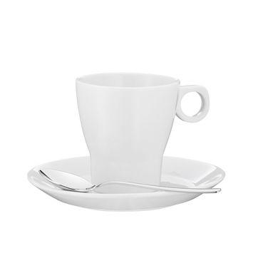 WMF - Barista - filiżanka do kawy ze spodkiem i łyżeczką - pojemność: 0,15 l