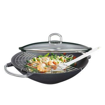 Küchenprofi - Premium - wok żeliwny - średnica: 36 cm