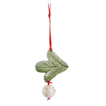 Villeroy & Boch - My Christmas Tree - zawieszka gałązka jodły z bombką - długość: 18 cm