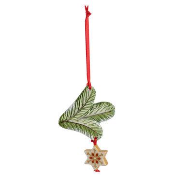 Villeroy & Boch - My Christmas Tree - zawieszka gałązka jodły z gwiazdką - długość: 18 cm