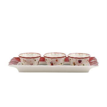 Villeroy & Boch - Toy's Delight - trzy miseczki na tacy - wymiary: 26 x 12 x 5 cm