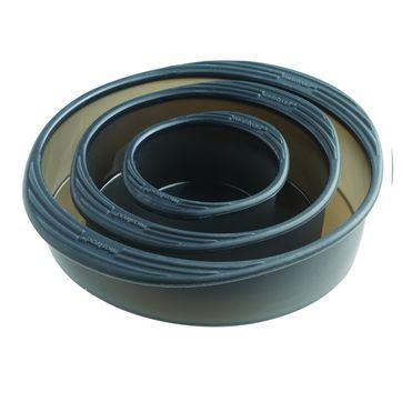 Mastrad - 3 silikonowe formy do pieczenia - średnica: 9, 15 i 20 cm