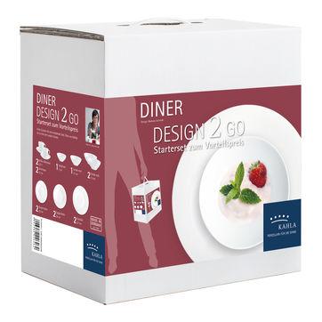 Kahla - Dîner - zestaw obiadowy dla 2 osób - 14 elementów