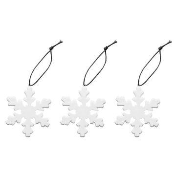 Sagaform - Winter - 3 porcelanowe ozdoby choinkowe - średnica: 7 cm