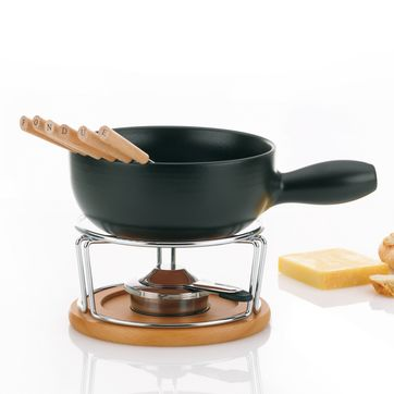Kela - Natura - zestaw do fondue serowego - dla 6 osób