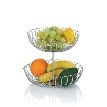 Kela - Prato - podwójny kosz na owoce - średnica: 25 cm