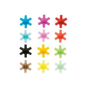Mastrad - znaczki do kieliszków i wykałaczek - 12 sztuk