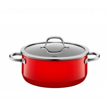 Silit - Passion Red - garnek niski - średnica: 24 cm; pojemność: 4,4 l