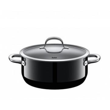 Silit - Passion Black - garnek niski - średnica: 24 cm; pojemność: 4,4 l