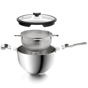 Mastrad - Balancia - garnek z wkładem do gotowania na parze - średnica: 24 cm; pojemność: 5,0 l