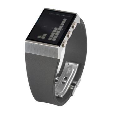 Lexon - e8 - zegarek elektroniczny - biały wyświetlacz