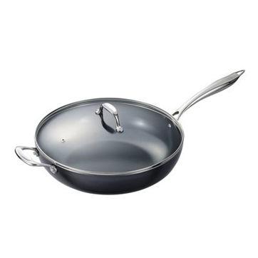 Kyocera - ceramiczny wok z pokrywką - średnica: 32 cm