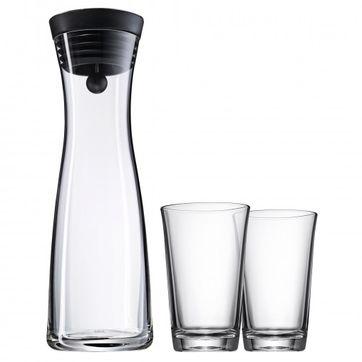 WMF - Basic - karafka i 2 szklanki - pojemność: 1,0 l + 0,25 l