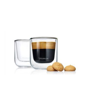 Blomus - Nero - 2 szklanki do espresso - pojemność: 0,08 l
