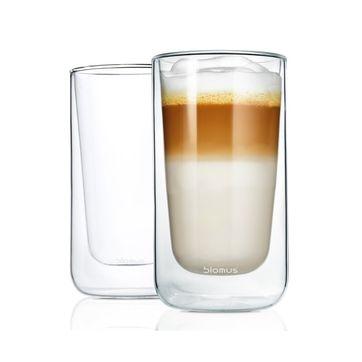 Blomus - Nero - 2 szklanki do latte - pojemność: 0,32 l