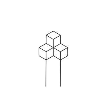 Menu - POV - podpórka do kwiatów - wymiary: 42 x 22 cm
