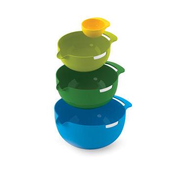 Joseph Joseph - Nest - zestaw misek - 4 elementy; z metalowym brzegiem do rozbijania jajek