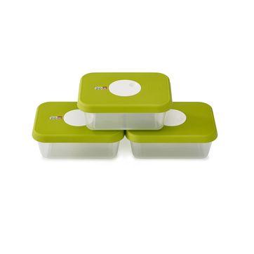 Joseph Joseph - Dial - zestaw pojemników na żywność z datownikiem - 3 sztuki; pojemność 1,0 l