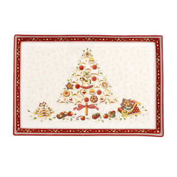 Villeroy & Boch - Winter Bakery Delight - talerz na ciasto - wymiary: 39 x 26,5 cm
