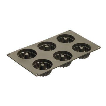Lurch - FlexiForm - forma do 6 babeczek z kominkiem - wymiary: 37 x 17,5 cm