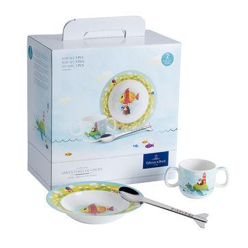 Villeroy & Boch - Chewy around the world - zestaw naczyń dla dzieci - kubeczek, talerz do zupy, łyżka
