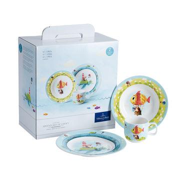 Villeroy & Boch - Chewy around the world - zestaw naczyń dla dzieci - talerz płaski, głęboki i kubeczek