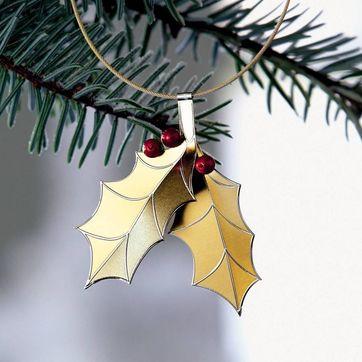 Menu - Christmas Charm - listki ostrokrzewu