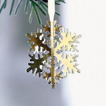 Menu - Christmas Charm - płatek śniegu