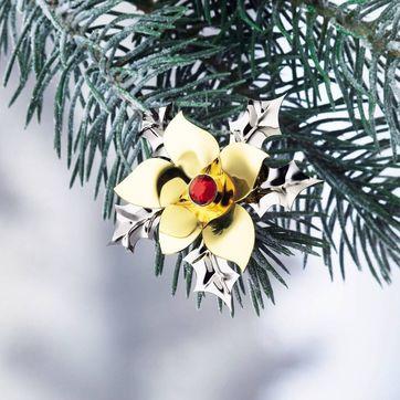 Menu - Christmas Jewelry - kwiat ostrokrzewu