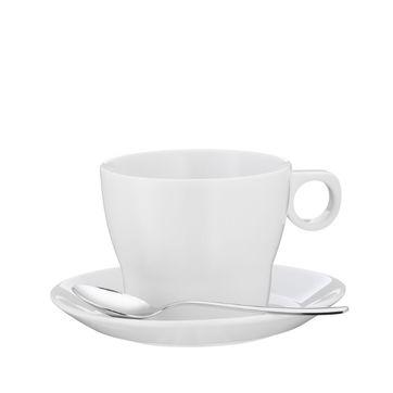 WMF - Barista - filiżanka do kawy z mlekiem ze spodkiem i łyżeczką - pojemność: 0,22 l
