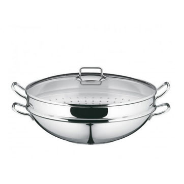 WMF - Macao - wok z wkładem do gotowania na parze i pokrywą - średnica: 36 cm
