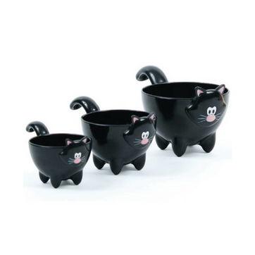 MSC - Meow - zestaw 3 kuchennych miarek - pojemność: 62,5; 120 i 250 ml