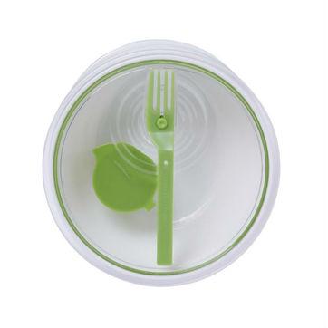Black Blum - Lunch Bowl - pojemnik na lunch z widelcem - średnica: 19,5 cm