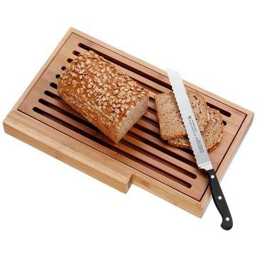 WMF - Spitzenklasse - deska z nożem do pieczywa - długość ostrza: 20 cm