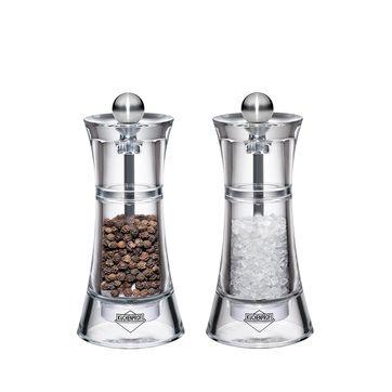 Küchenprofi - Toledo - zestaw młynków do soli i pieprzu - wysokość: 14 cm
