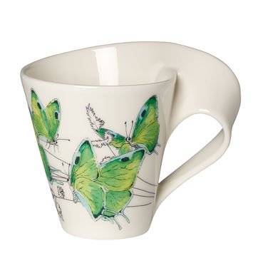 Villeroy & Boch - New Wave Caffe Deep green hairstreak - kubek - pojemność: 0,3 l