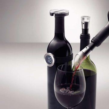 Menu - Vignon - zestaw akcesoriów do wina - pompka próżniowa, nalewak, obcinak do folii, termometr