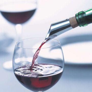 Menu - Royal - nalewak do wina ze srebra - z systemem napowietrzająco-filtrującym