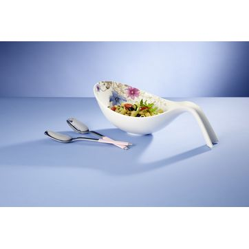 Villeroy & Boch - Mariefleur Gris Basic - zestaw do sałaty - miska z uchwytem i sztućce