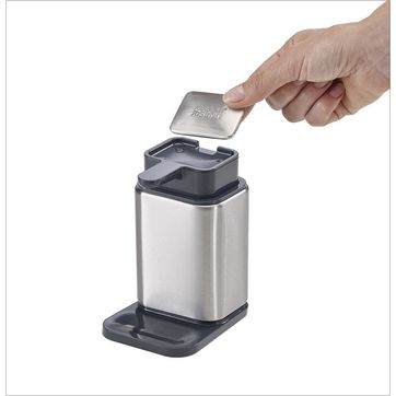 Joseph Joseph - Surface - dozownik do mydła z mydełkiem jonizującym - 10,6 x 14,5 x 7,9 cm
