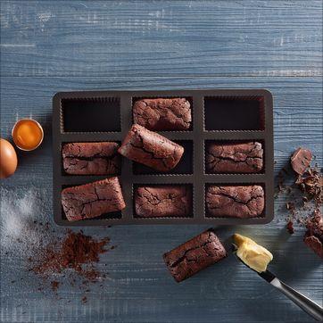 Lurch - FlexiForm - forma na 9 ciastek brownie - wymiary ciastka: 8 x 4,5 x 2,5 cm