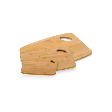 Kela - Katana - 3 bambusowe deski do krojenia - 20 x 15, 30 x 23, 38 x 29 cm